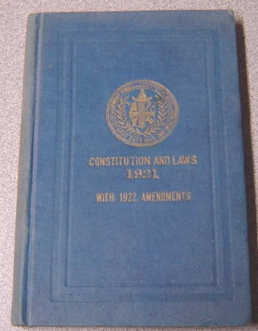 Image for Constitution And Laws Of The Antient Fraternity Of Free And Accepted Masons Under The Grand Lodge Of New Zealand With 1922 Amendments