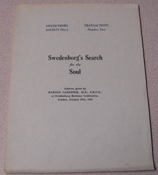 Image for Swedenborg's Search for the Soul, Address Given By Harold Gardiner, M.S., F.R.C.S., at Swedenborg Birthday Celebration, London, January 29th, 1936 (Swedenborg Society Transactions Ser. #2)