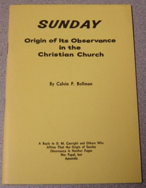 Image for Sunday: Origin Of Its Observance In The Christian Church