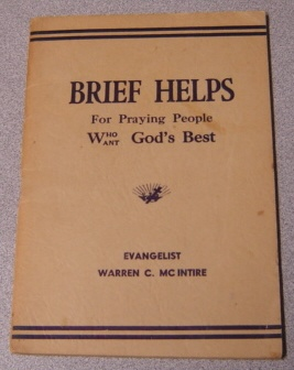 Image for Brief Helps For Praying People Who Want God's Best