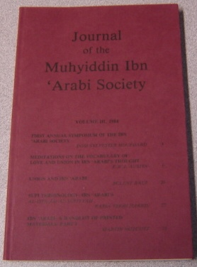 Image for Journal Of The Muhyiddin Ibn 'Arabi Society, Volume III, 1984