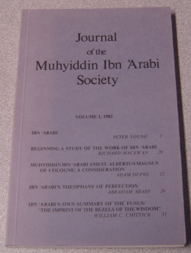 Image for Journal of the Muhyiddin Ibn 'Arabi Society, Volume I, 1982