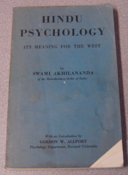 Image for Hindu Psychology: Its Meaning for the West