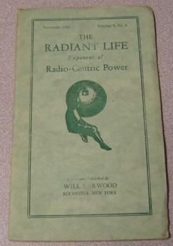Image for The Radiant Life Exponent of Radio-Centric Power, Volume 9 #8, November 1926