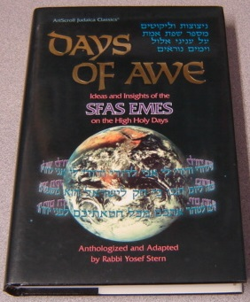 Image for Days of Awe: Ideas and Insights of the Sfas Emes on the High Holy Days (Artscroll Judaica Classics)