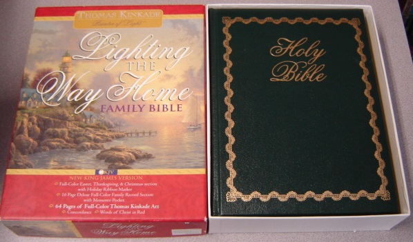 Image for Lighting The Way Home Family Bible: Thomas Kinkade, New King James Version (#259kg)
