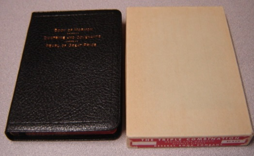 Image for Triple Combination - Book of Mormon, Doctrine and Covenants, Pearl of Great Price (Cape Morocco Leather)