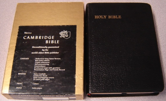 Image for Cambridge Cameo Bible, Holy Bible, Authorized King James Version, Red Letter Edition, Concordance, #71Xrl, Satin Cowhide Leather