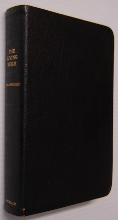 Image for The Living Bible Paraphrased, Black Genuine Cowhide Leather