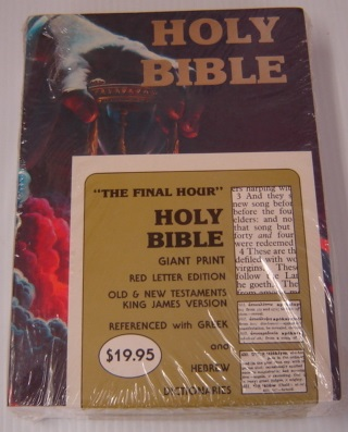 Image for Holy Bible: Giant Print: Red Letter Edition, Old And New Testaments, King James Version, Referenced With Greek And Hebrew Dictionaries From Strong's Concordance