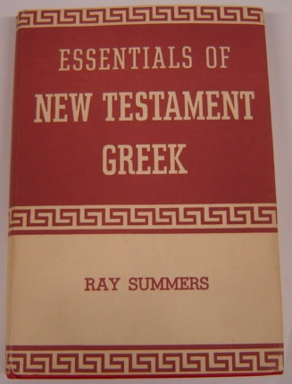 Image for Essentials of New Testament Greek