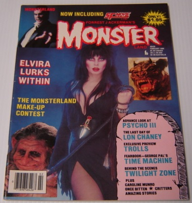Image for Forrest J. Ackerman's Monsterland (Monster Land) Issue #7, February 1986 - Elvira
