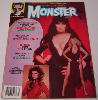 Image for Forrest J. Ackerman's Monsterland (Monster Land) Issue #2, April 1985 - Elvira