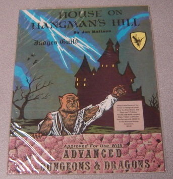 Image for House on Hangman's Hill (Judges Guild Approved for Use With Advanced Dungeons and Dragons)