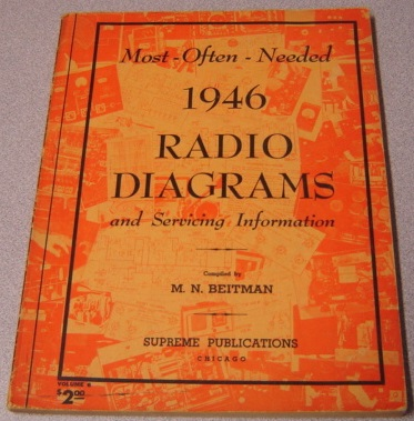 Image for Most Often Needed 1946 Radio Diagrams And Servicing Information, Volume 6