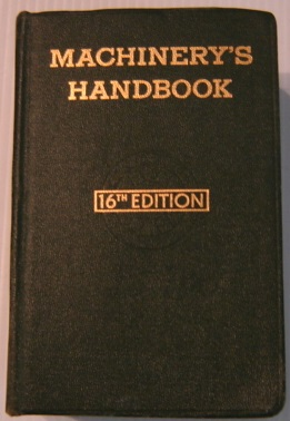 Image for Machinery's Handbook, 16th Edition, Thumb-indexed