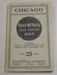 Image for Chicago: Rand McNally Vest Pocket Map, Showing Streets, Transporation Lines, Parks, Public Buildings, Etc.