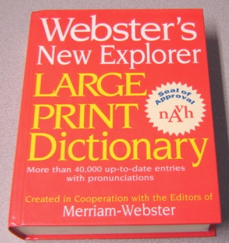 Image for Webster's New Explorer Large Print Dictionary