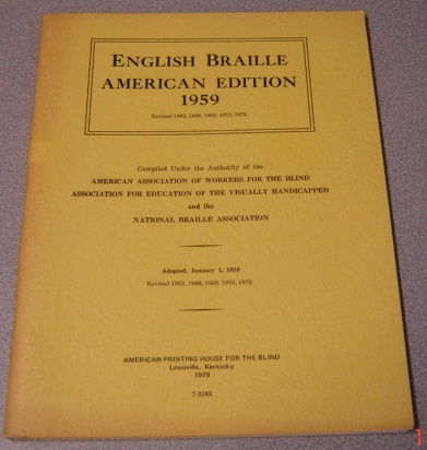 Image for English Braille American Edition 1959, Revised 1972